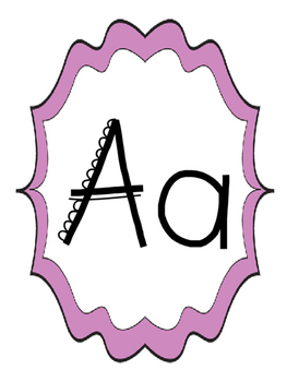 Classroom Alphabet - Letters A to Z for Classroom Alphabet, Word Wall, etc.