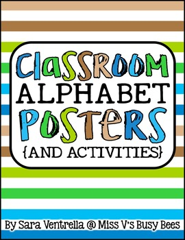 Classroom Alphabet Posters & Activities {Earth Tone Colors}