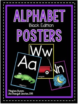 Classroom Alphabet Posters (Black Edition)