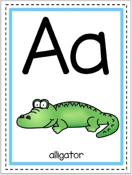 Classroom Alphabet Posters (White Edition)