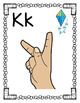 Alphabet Posters with American Sign Language Signs, Letter