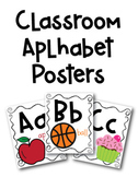 Classroom Alphabet Posters with Beginning Sounds Clipart