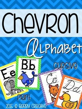 Classroom Alphabet ~ Chevron Theme