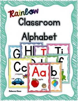 Alphabet Posters {Rainbow Scribble}