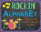 Classroom Alphabet {Rockin' Rockstar Theme} {Wall Cards/Posters} {Many Sizes}