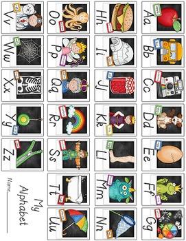 Classroom Alphabet Set - Modern Manuscript Style Script {Polaroid Style}