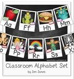 Classroom Alphabet Set - Traditional Style Script {Polaroid Style}