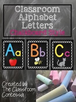 Classroom Alphabet Set (chalkboard style)