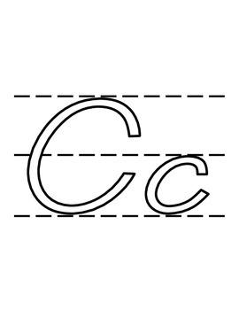 Classroom Alphabet Strip - D'Nealian letters