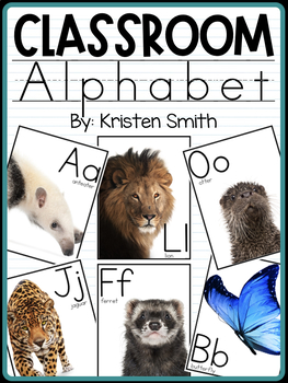 Classroom Alphabet With Real Life Pictures
