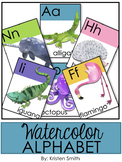 Classroom Alphabet With Watercolor Pictures