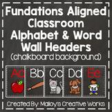 Classroom Alphabet & Word Wall Headers {{Barnwood Background}}