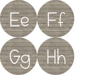Classroom Alphabet & Word Wall Headers {{Barnwood Background}}