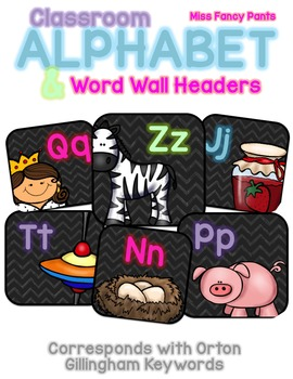 Classroom Alphabet and Word Wall Headers - Orton Gillingham