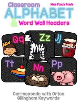 Classroom Alphabet and Word Wall Headers - Orton Gillingham