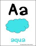 Classroom Alphabet - color theme