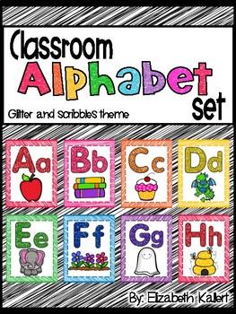Classroom Alphabet posters