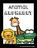 Classroom Animal Alphabet Poster Set -Black Boarders