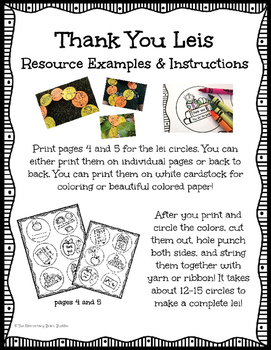 Classroom Appreciation Gift:  Thank You Lei