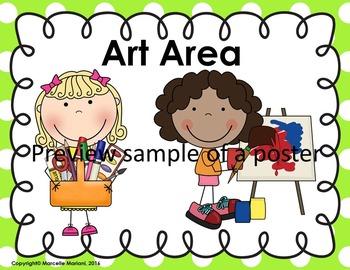 Classroom Area Posters- Center Posters- Classroom Decor-EDITABLE