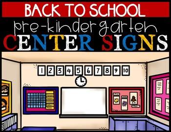 Classroom Area Sign