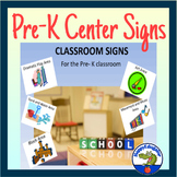 Pre-K Center Signs for Back to School