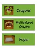 Classroom Art Material Labels