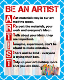 "Classroom Art Rules to ""BE AN ARTIST"""