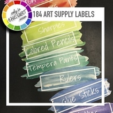 184 Art Supply Labels in PDF, Jpeg & png for art teachers