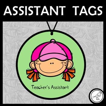 classroom assistant tags teacher assistant tags tpt