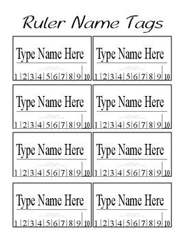 Classroom Assortment Name Tags