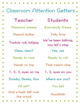 Classroom Attention Getters