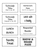 Classroom Auction Coupons
