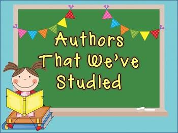 Classroom Author Study Kit