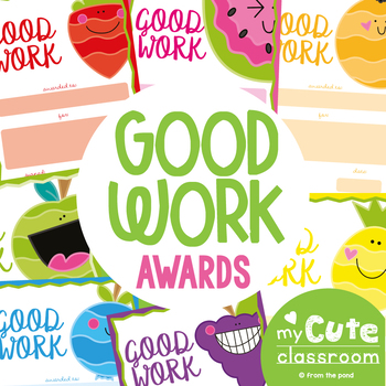 classroom award certificates good work fruit theme by from the pond