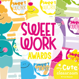Classroom Award Certificates {Sweet Work}