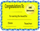 Classroom Award Templates