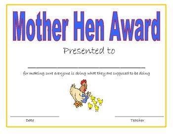 Classroom Awards