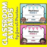 Classroom Awards Editable (Editable Reward Certificates)