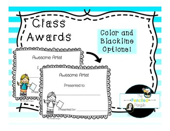 Classroom Certificates, End of the Year/ Quarter