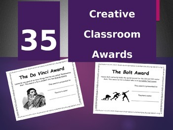 Classroom Awards - 35 creative options for end-of-year cer