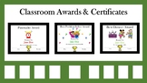 Classroom Awards/Certificates (Includes 134 Awards)