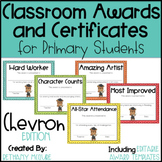End of the Year Awards Editable Classroom Award Certificates - Chevron