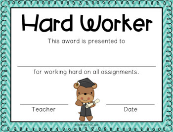 EDITABLE Awards and Certificates | Classroom Awards - Chevron