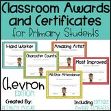 EDITABLE Awards and Certificates   Classroom Awards - Chevron