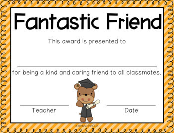editable awards and certificates classroom awards freebie tpt