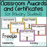EDITABLE Awards and Certificates | Classroom Awards - FREEBIE