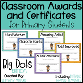 End of the Year Awards Editable Classroom Award Certificates - Big Polka Dots