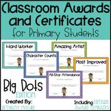 EDITABLE Awards and Certificates | Classroom Awards - Big Dots