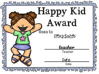 Classroom Awards!  Editable in color and black & white